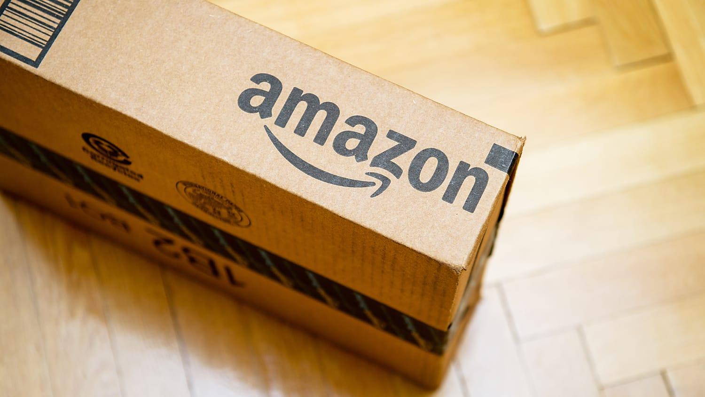Amazon box on floor