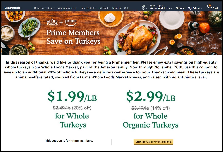Amazon turkey coupon