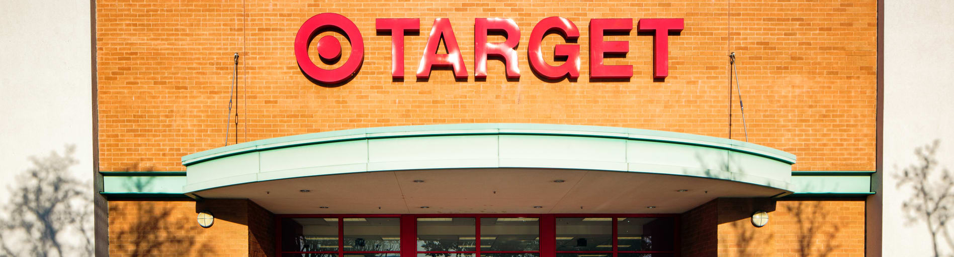 Target storefront in sun