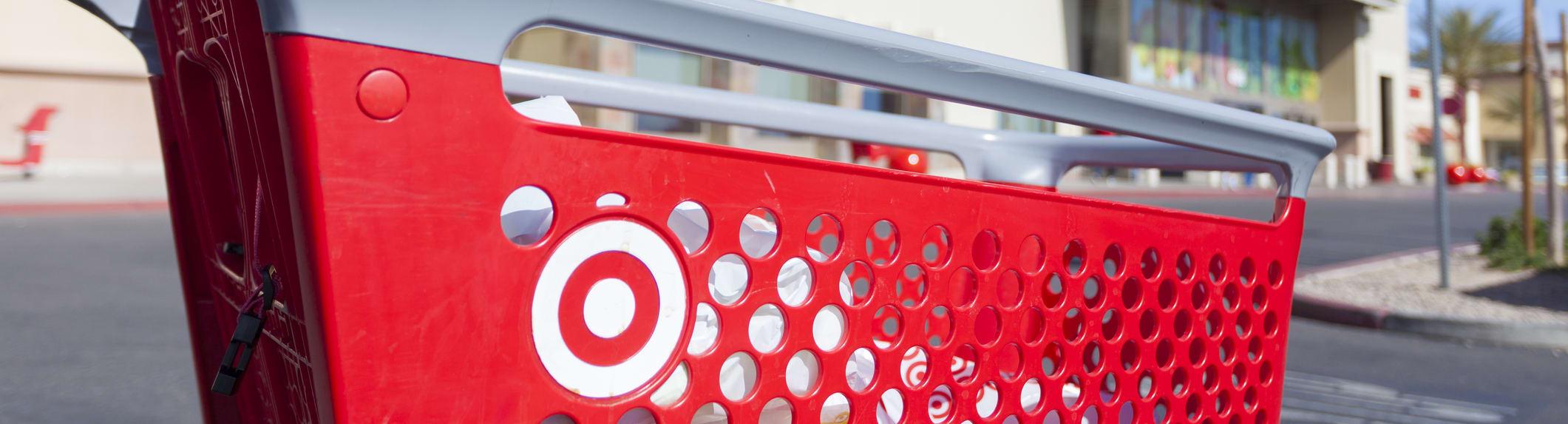 shopping cart in Target lot