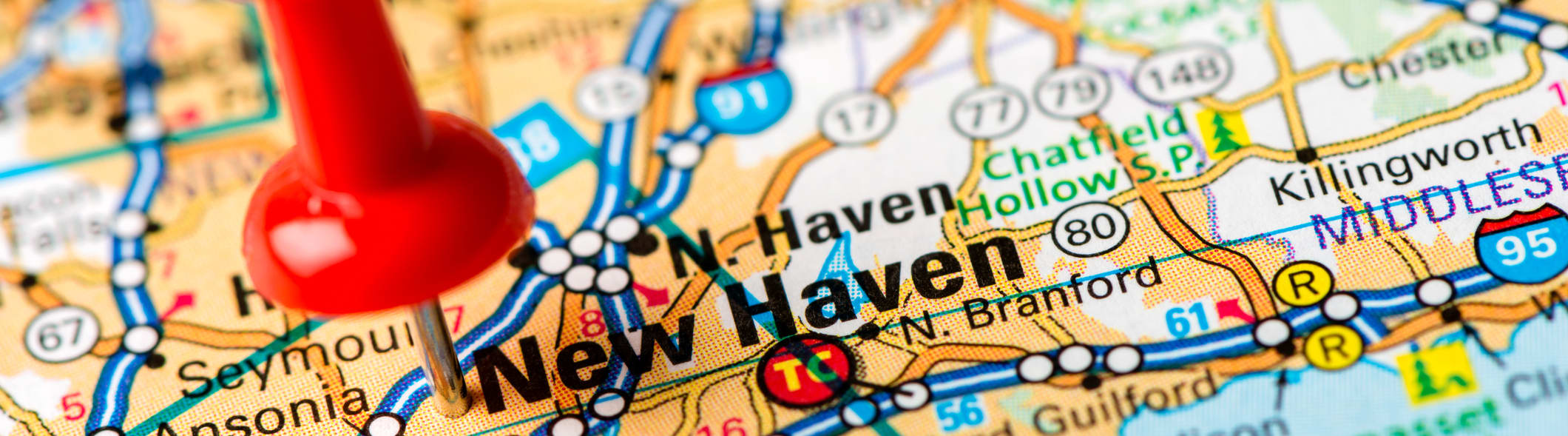 New Haven Connecticut map pin