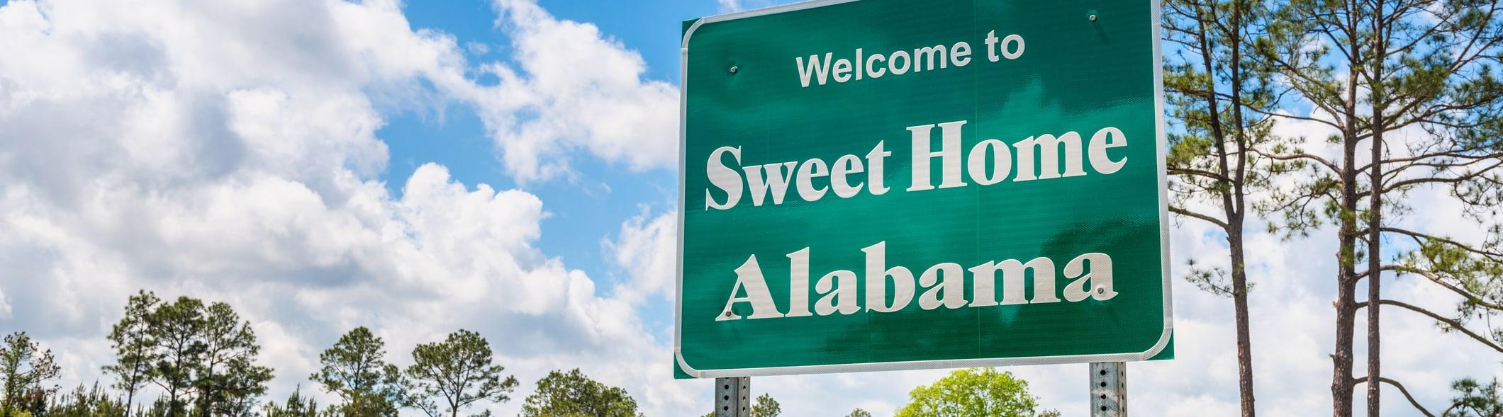 Alabama road sign