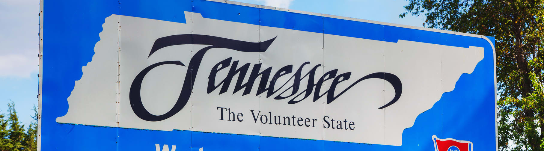Tennessee state sign