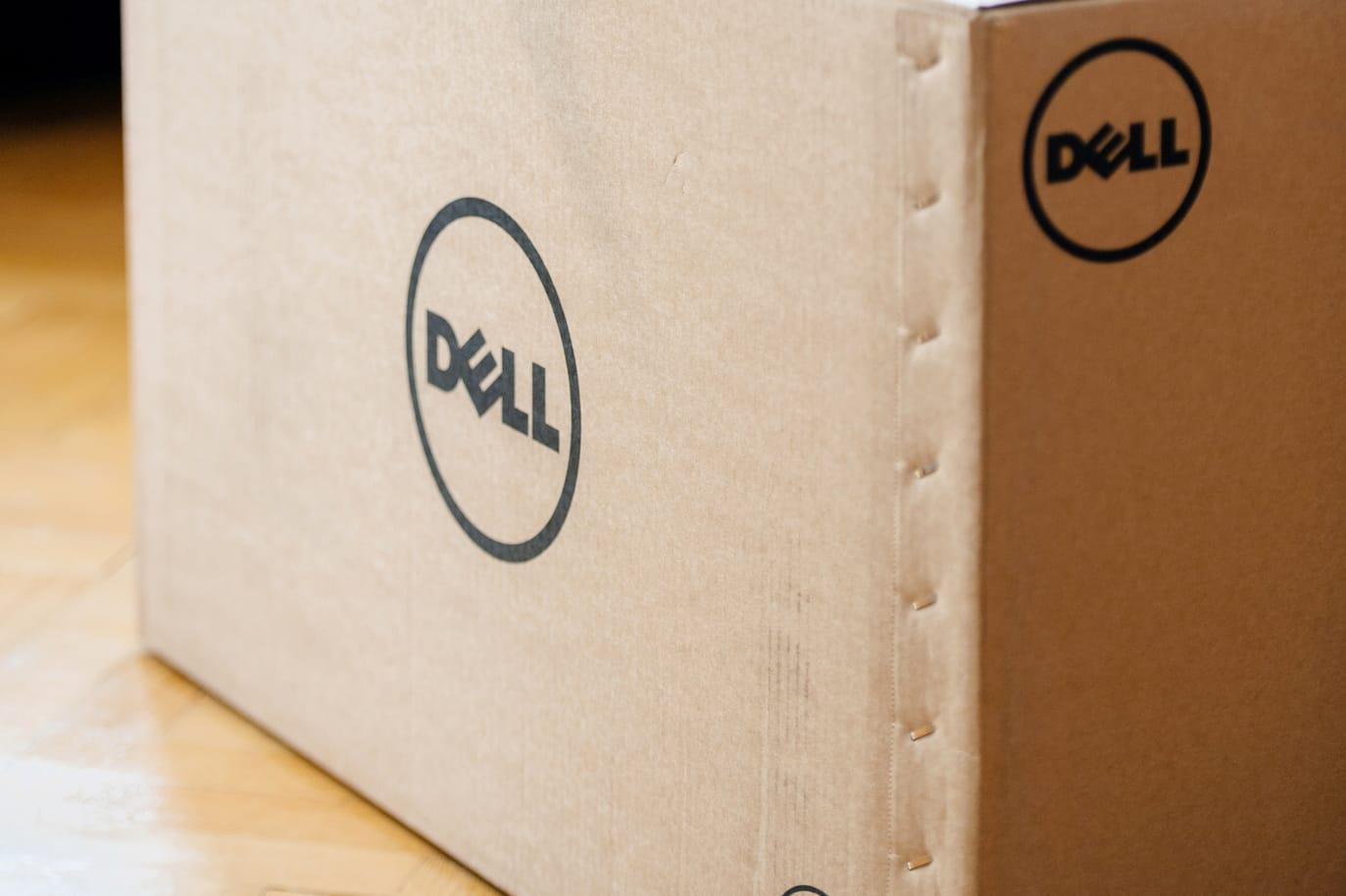 Dell cardboard box