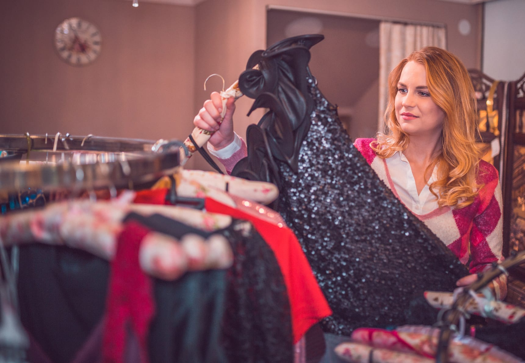 woman renting formalwear