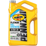 Walmart offers a selection of Pennzoil Platinum Full Synthetic Motor Oil 5-Quart Jugs, with prices starting from $22.68. Redeem this $10 online rebate to cut the starting price to $12.68