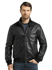 Jos. A. Bank Men's 1905 Collection Tailored Fit Lambskin Bomber Jacket for $100 + free shipping
