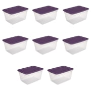 Sterilite 58-Quart / 55-Liter Storage Box 8-Pack for $30 + free shipping w/ $35