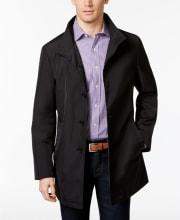 Calvin Klein Men's Slim Fit Solid Raincoat for $49 + pickup at Macy's
