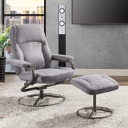 Mainstays Plush Pillowed Swivel Recliner and Ottoman Set for $65 + free shipping