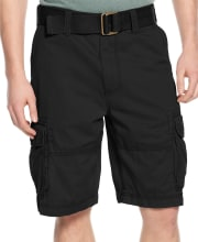 American Rag Men's Belted Relaxed Cargo Shorts (34 only) for $7 + pickup at Macy's