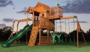 Sam's Club offers its members the Backyard Discovery Skyfort II Cedar Swing Set for $1,399 with free shipping. (Non-members pay a $139.90 surcharge so it's better to opt for a 1-year membership, which costs $45.) Features include a 10-foot wave slide,...
