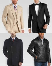 At Men's Wearhouse, buy one select men's suit, sportcoat, or outerwear item and get a second item of equal or lesser value for free. Plus, Perfect Fit Rewards members bag free shipping