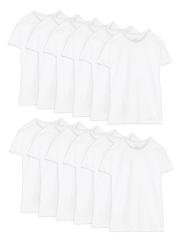 Fruit of the Loom Men's Dual Defense White Crew T-Shirt 12-Pack for $15 + pickup at Walmart
