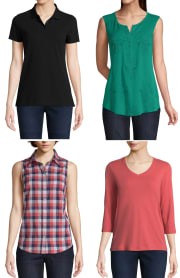 St. John's Bay Women's Shirts from $2 + $4 pickup at JCPenney