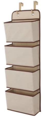 Walmart offers the Delta Children 4-Pocket Hanging Wall Organizer in Beige for $4.99. (Amazon offers it for the same price with orders of $25 or more.) Opt for in-store pickup to avoid the $5.99 shipping charge
