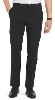 Van Heusen Men's Straight-Fit Flat-Front Flex Oxford Pants for $13 + $4 pickup at JCPenney