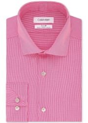 Calvin Klein Men's Steel Slim-Fit Non-Iron Stretch Performance Dress Shirt for $23 + pickup at Macy's