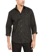 Alfani Men's Classic-Fit Geometric Metallic Shirt for $11 + pickup