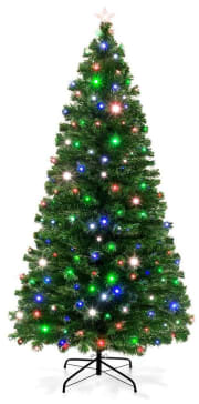 Best Choice Products 7-Ft. Fiber Optic Artificial Christmas Pine Tree for $80 + free shipping