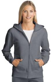 Hanes Women's ComfortSoft EcoSmart Full-Zip Hoodie Sweatshirt for $6 + free shipping