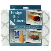 Walmart offers the Envison Home Fridge Bin and Shelf Liners 3-Pack for $3.99. (Amazon charges the same with free shipping for Prime members.) Opt for in-store pickup to avoid the $5.99 shipping fee