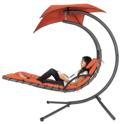 Best Choice Hanging Chaise Lounger Canopy Chair for $110 + free shipping