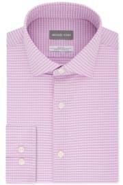 Michael Kors Men's Slim-Fit Non-Iron Performance Check Dress Shirt for $25 + pickup at Macy's