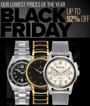 Ashford takes up to 92% off a selection of men's and women's watches during its Black Friday Sale. Plus, all orders bag free shipping