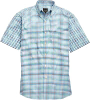 Jos. A. Bank Men's Traveler Collection Plaid Short-Sleeve Sportshirt for $10 + 3