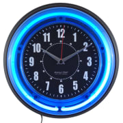 """Sterling and Noble 11"""" Neon Analog Wall Clock for $20 + pickup at Walmart"""