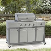 """Sears offers its Kenmore 4-Burner Gas Grill with Storage for $299.99. Coupon code """"SUNSHINE"""" cuts it to $269.99"""