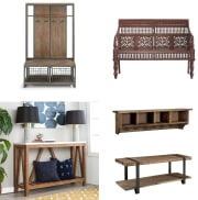 Home Depot takes up to 40% off a selection of entryway furniture. Where available, opt for in-store pickup to avoid oversize shipping charges, which start at $55