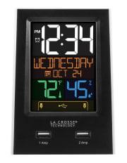 La Crosse Dual USB Charging Station and Alarm Clock for $16 + pickup at Walmart