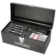 "Craftsman 130-Piece Mechanics' Tool Set & 16"" Metal Toolbox for $45 + pickup at Sears"