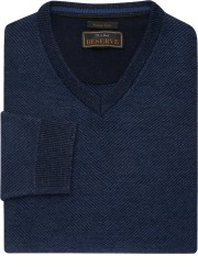Jos. A. Bank Reserve Collection Men's Wool Blend V-Neck Sweater for $12 + free shipping