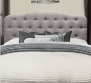 """Ending today, JCPenney offers the Bedroom Possibilities Charlotte Full/Queen Headboard in four colors (Stone pictured) for $116.48. Coupon code """"4SHOPNOW"""" cuts that to $99"""