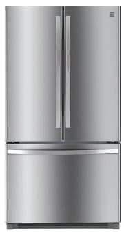 Sears offers the Kenmore 26.1-Cubic Foot French-Door Bottom-Freezer Refrigerator in three colors (Stainless Steel pictured) for $899.99 with free shipping. (Amazon charges the same price.) That's $1,000 off list and the lowest price we could find