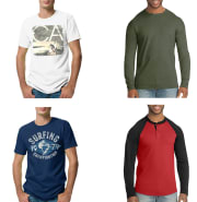 Walmart discounts a selection of Hanes men's T-shirts to $5 or less. Choose in-store pickup to dodge the $5.99 shipping fee