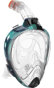 """Outdoor Master via Amazon offers the OutdoorMaster 180° Snorkel Mask in several colors (Ocean Camo pictured) for $39.99. Coupon code """"SNORKM14"""" drops it to $14.80"""