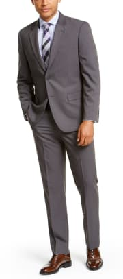 Nautica Men's Solid Modern-Fit Suit for $83 + free shipping