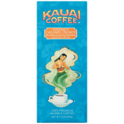 With orders of $25 or more, Amazon offers the Kauai Coffee Ground Coffee 10-oz. Bag in Coconut Caramel Crunch for $4.41 with free shipping via the steps below