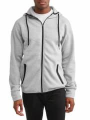 Men's Fleece Hooded Full Zip Jacket for $9 + pickup at Walmart