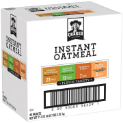 Quaker Instant Oatmeal Variety 48-Pack for $7 + free shipping