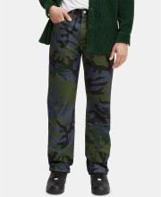 Levi's Men's 501 Original Shrink-to-Fit Camo Print Jeans for $25 + pickup at Macy's