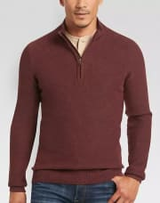 Men's Wearhouse takes an extra 50% off a selection of clearance sweaters. (Prices are as marked.) Plus, Perfect Fit Reward members bag free shipping