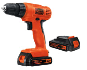 "Walmart offers the Black + Decker LD120 20-volt 3/8"" Cordless Drill with two Batteries for $39.97 with free shipping. It features a 24-position clutch, ratcheting screwdriver, and charger."
