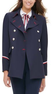 Tommy Hilfiger Women's Double-Breasted Jacket for $56 + pickup at Macy's