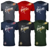 Men's and Women's Football T-Shirts for $15 + free shipping
