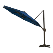 Walmart offers the Better Homes and Gardens Canyon Lake Cantilever Patio Umbrella with Solar Lights in Navy or Red Clay, with prices starting from $72.99, as listed below. Plus, these orders bag free shipping